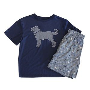 Kids Black Dog PJ Set